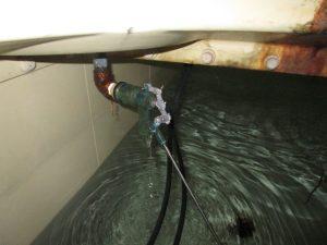 受水槽内給水状況